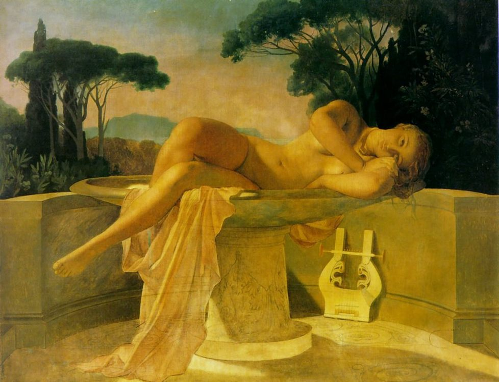 Girl in a Basin :: Paul Delaroche - Nu in art and painting фото