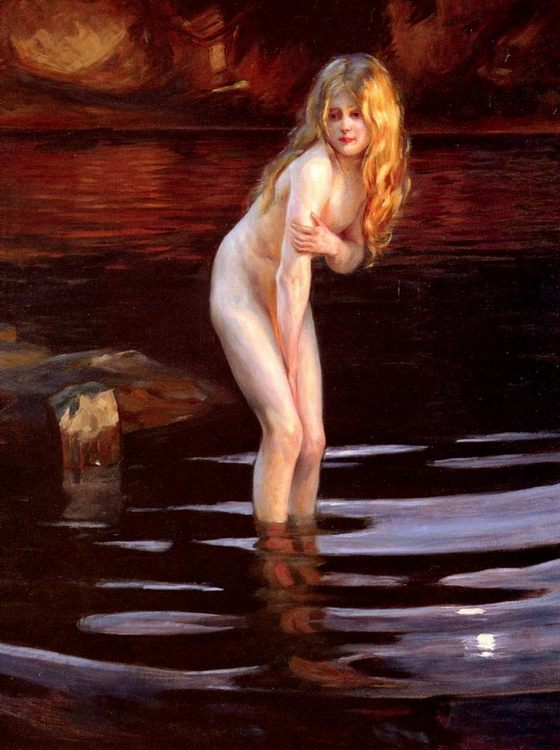 La Baigneuse [The Bather] :: Paul Emile Chabas - Nu in art and painting ôîòî