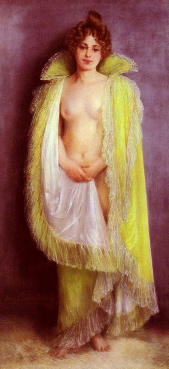 Femme En Deshabillee Verte :: Pierre Carrier-Belleuse - Nu in art and painting ôîòî