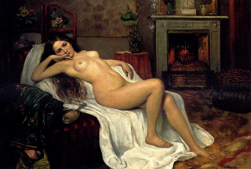 Reclining Nude On A Draped Sofa :: Sergei Semenovich Egornov - Nu in art and painting фото