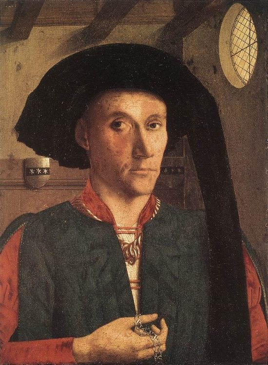 Portrait of Edward Grimston :: Petrus Christus - men's portraits 15th century hall ôîòî