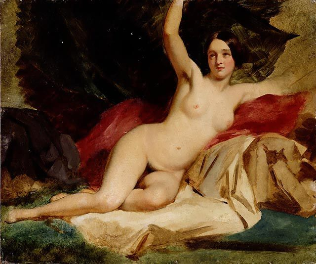 Female Nude in a Landscape :: William Etty  - Nu in art and painting фото