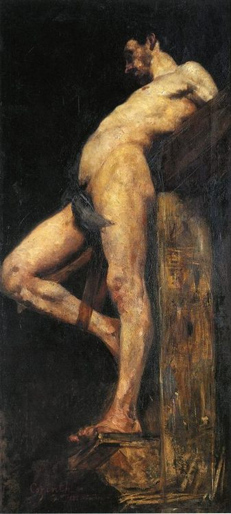 Crucified Thief :: Lovis Corinth - nude men фото