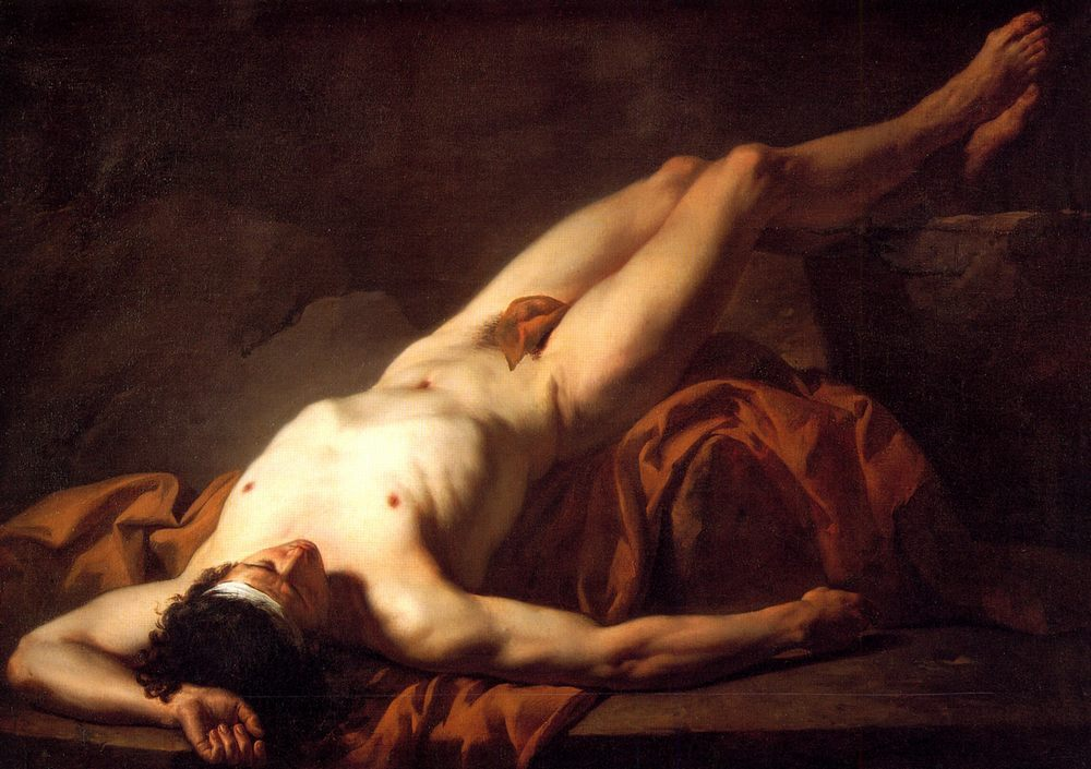 Male Nude known as Hector :: Jacques-Louis David - nude men фото