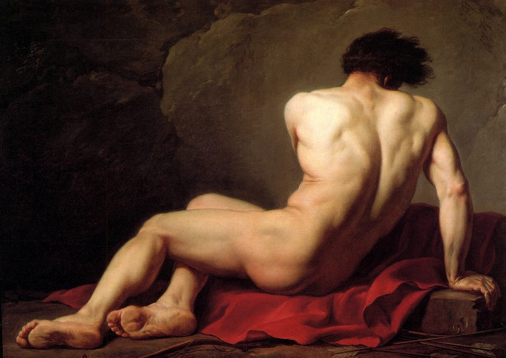 Male Nude known as Patroclus :: Jacques-Louis David - nude men фото