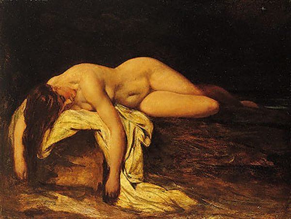 Nude Woman Asleep :: William Etty - Nu in art and painting ôîòî