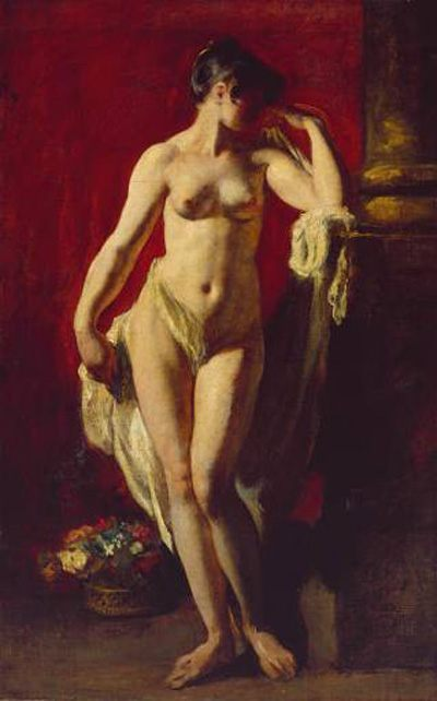 Standing Female Nude :: William Etty  - Nu in art and painting фото