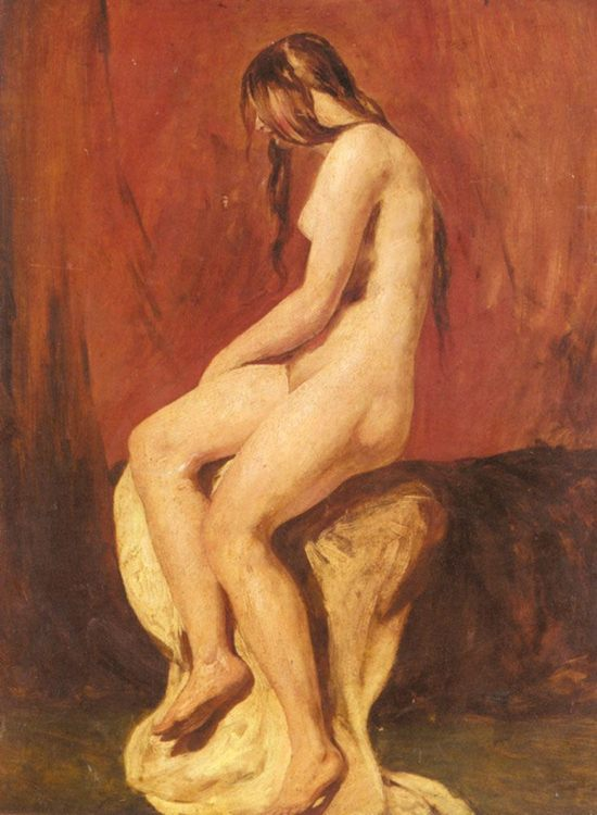 Study of a Female Nude :: William Etty - Nu in art and painting фото
