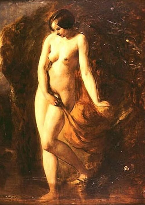 The Bather :: William Etty - Nu in art and painting фото