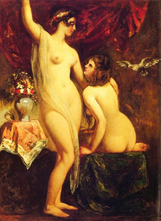 Two Nudes In An Interio :: William Etty  - Nu in art and painting ôîòî