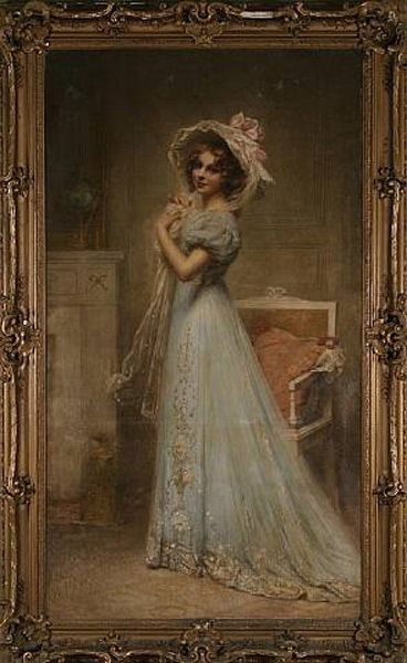 Lady in Blue :: Edouard Cabane - 6 woman's portraits hall ( The middle of 19 centuries ) in art and painting фото