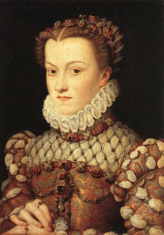 Elisabeth of Austria, Queen of France :: Franzois Clouet - 2 women portraits 16th century hall фото