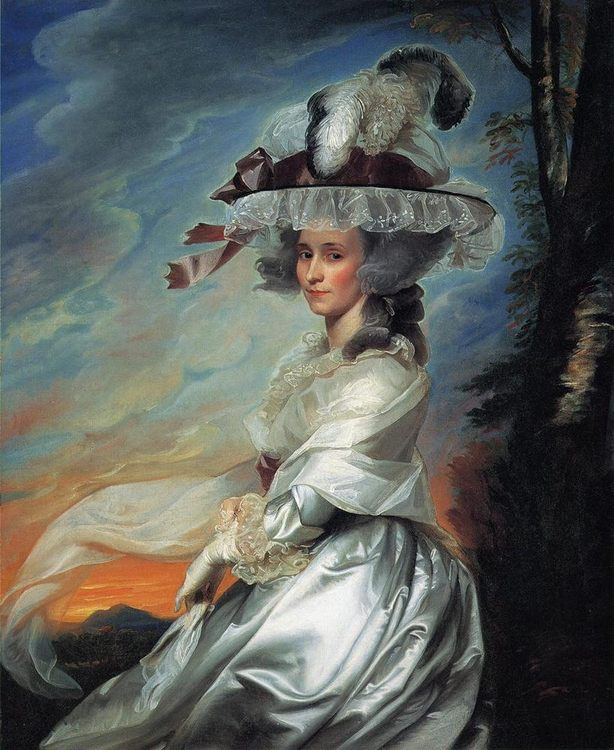 Mrs. Daniel Denison Rogers (Abigail Bromfield) :: John Singleton Copley - 4 women's portraits 18th century hall фото