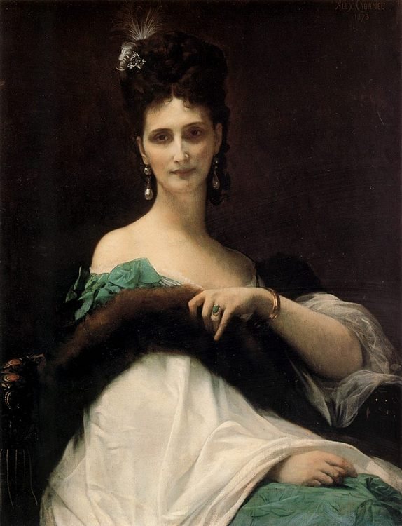 The countess de Keller :: Alexandre Cabanel  - 7 female portraits ( the end of 19 centuries ) in art and painting фото
