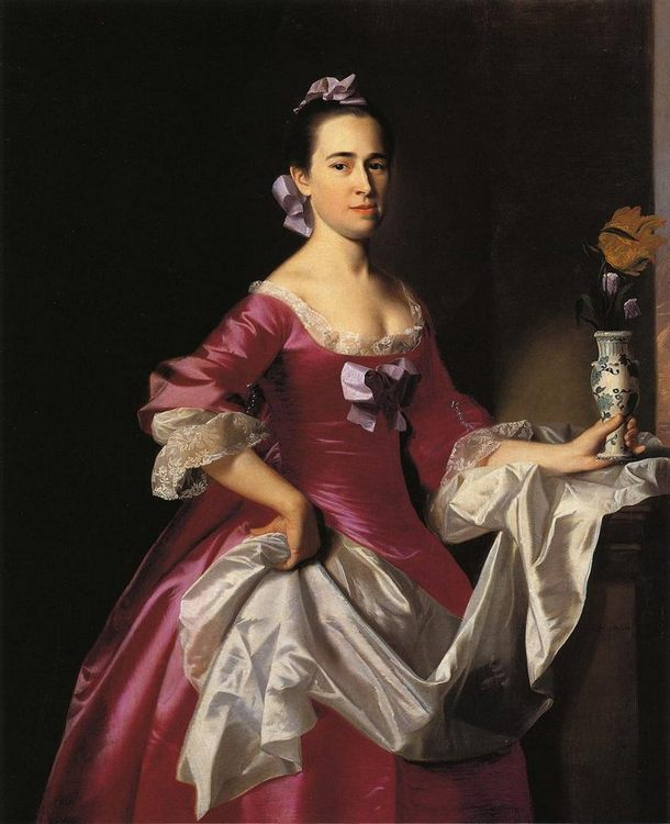 Mrs George Watson (Elizabeth Oliver) :: John Singleton Copley  - 4 women's portraits 18th century hall фото