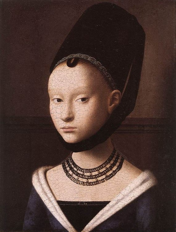 Portrait of a Young Girl :: Petrus Christus - 1 women portraits 15th century hall фото