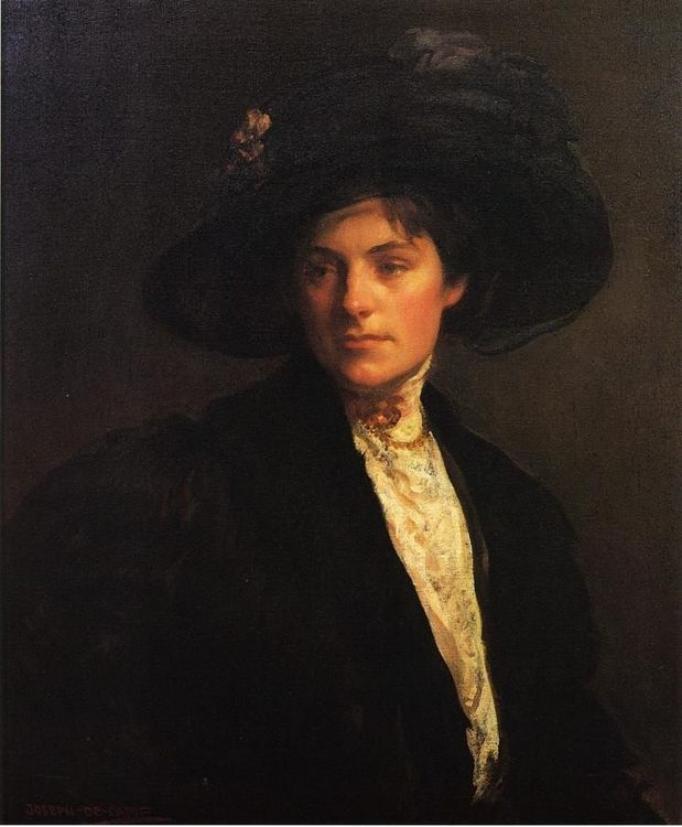 The Fur Jacket :: Joseph Rodefer de Camp - 7 female portraits ( the end of 19 centuries ) in art and painting фото