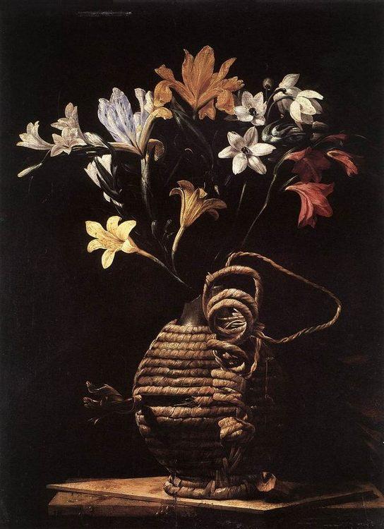 Flowers in a Flask :: Guido Cagnacci  - flowers in painting ôîòî