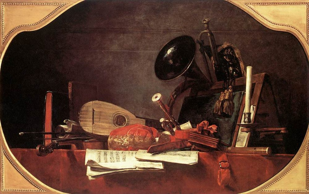 Attributes of Music :: Jean-Baptiste-Simeon Chardin - Still life фото