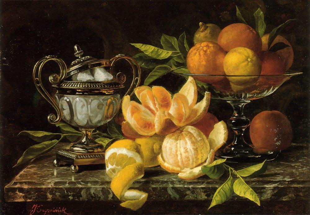 Nature Morte Aux Oranges Et Citrons :: Jean Capeinick - Still-lives with fruit фото
