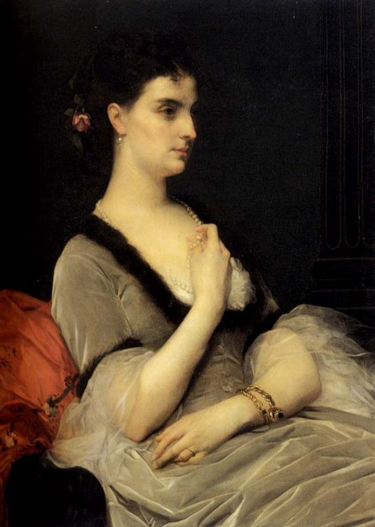 Portrait of Countess E. A. Vorontsova-Dashkova :: Alexandre Cabane - women portraits фото