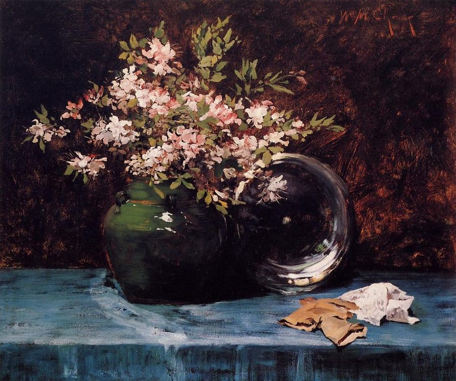 Azaleas :: William Merritt Chase - flowers in painting ôîòî