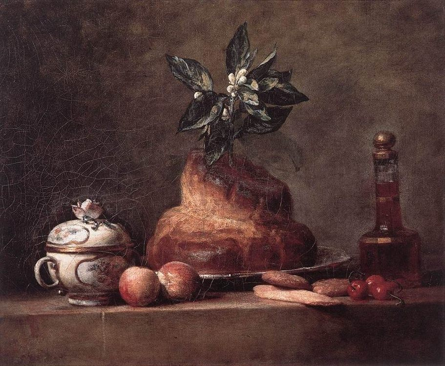 Scones :: Jean-Baptiste-Simeon Chardin - Still-lives with fruit фото