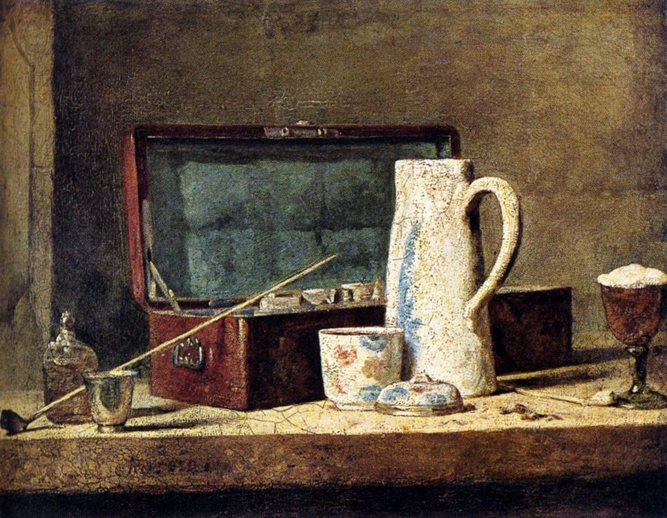 Pipes And Drinking Pitcher :: Jean-Baptiste-Simeon Chardin -  фото