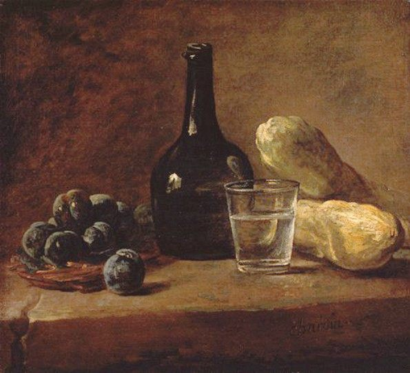 Still Life with Plums :: Jean-Baptiste-Simeon Chardin - Still-lives with fruit фото
