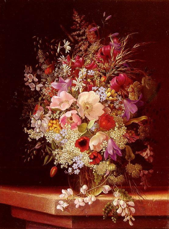 Still Life With Flowers :: Adelheid Dietrich - flowers in painting ôîòî