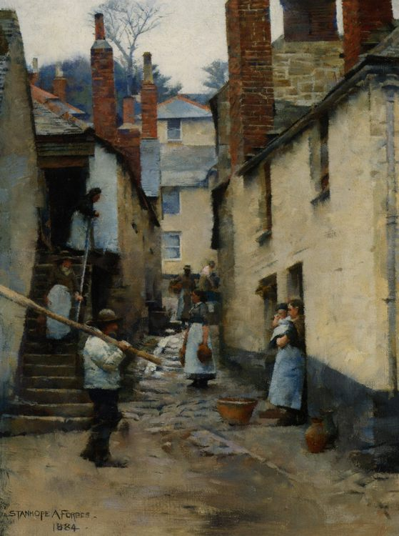 Old Newlyn :: Stanhope Alexander Forbes  - Street and market genre scenes фото