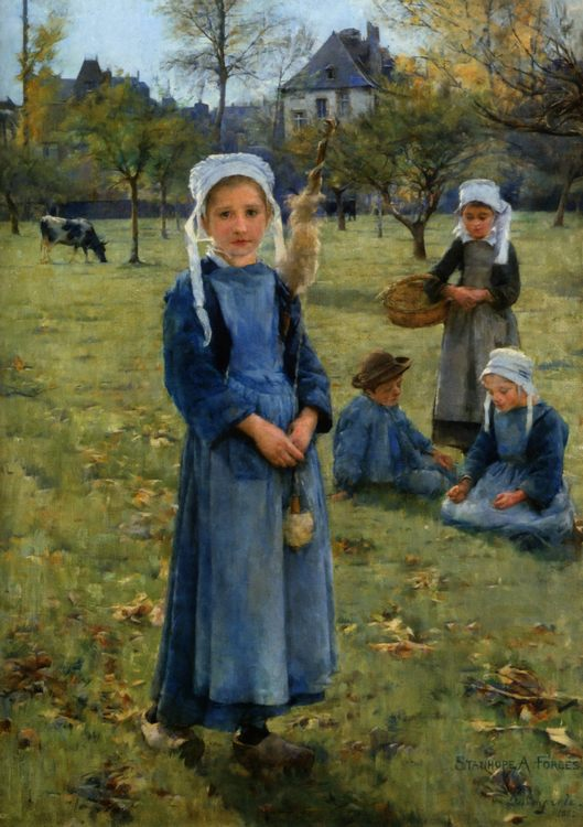The Orchard :: Stanhope Alexander Forbes  - Portraits of young girls in art and painting фото