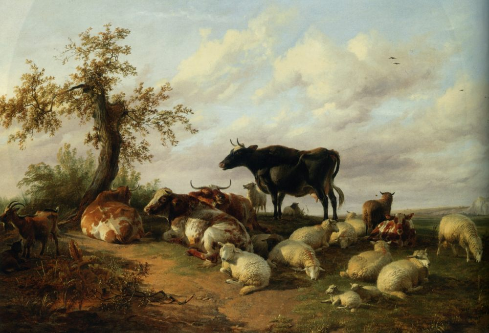 Cattle Sheep and Goats :: Thomas Sidney Cooper - Animals фото