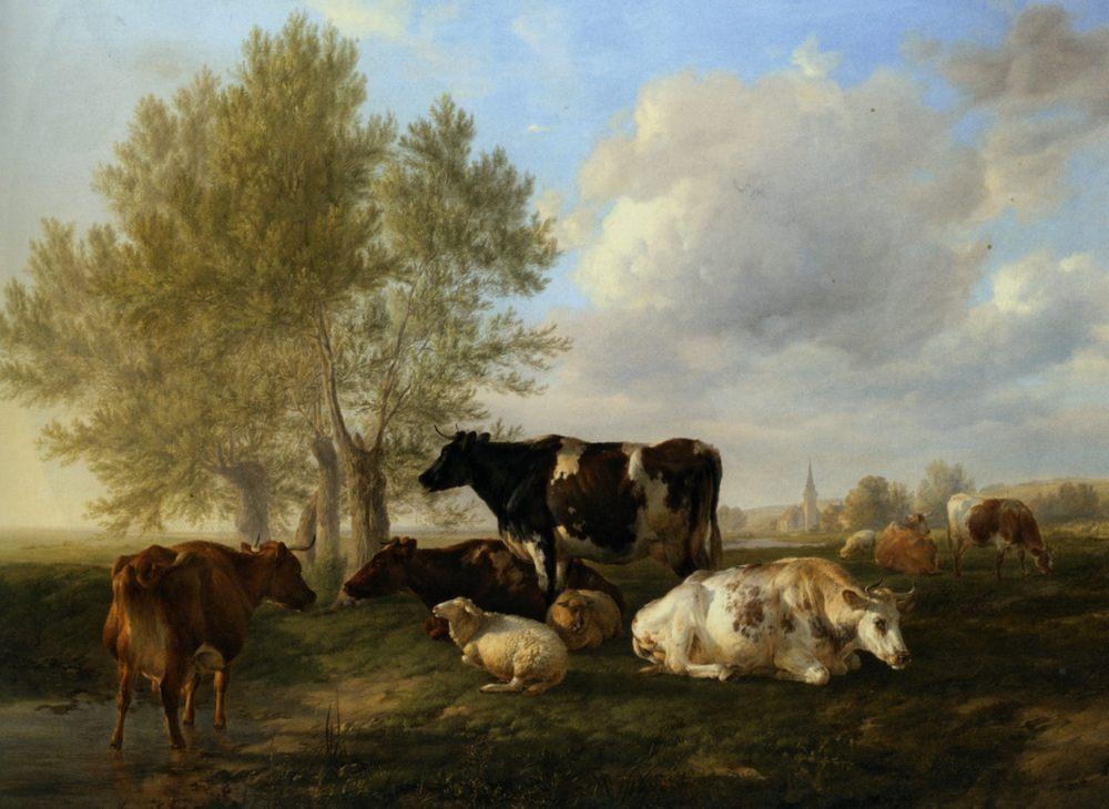 Meadows Near Canterbury :: Thomas Sidney Cooper - Animals ôîòî