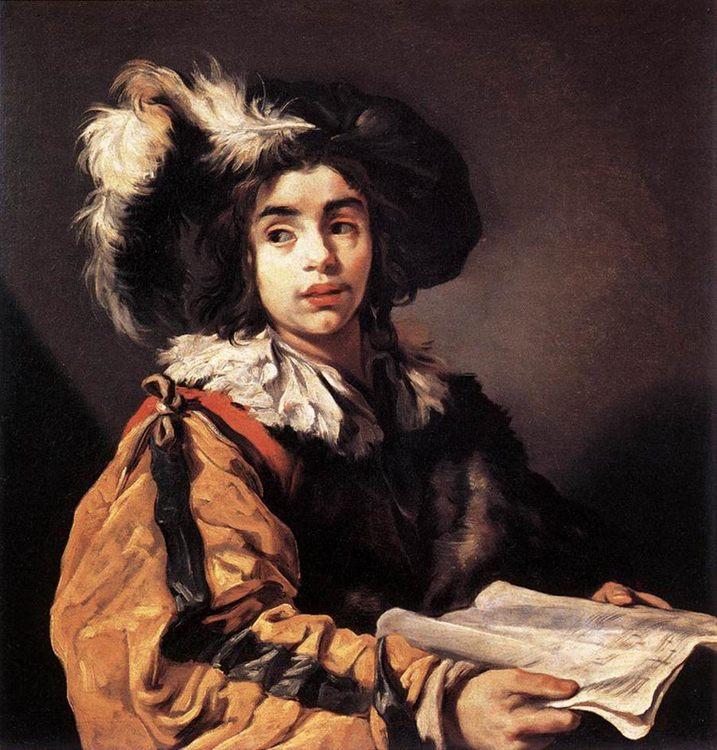 The Young Singer :: Claude Vignon - Portraits of young boys ôîòî