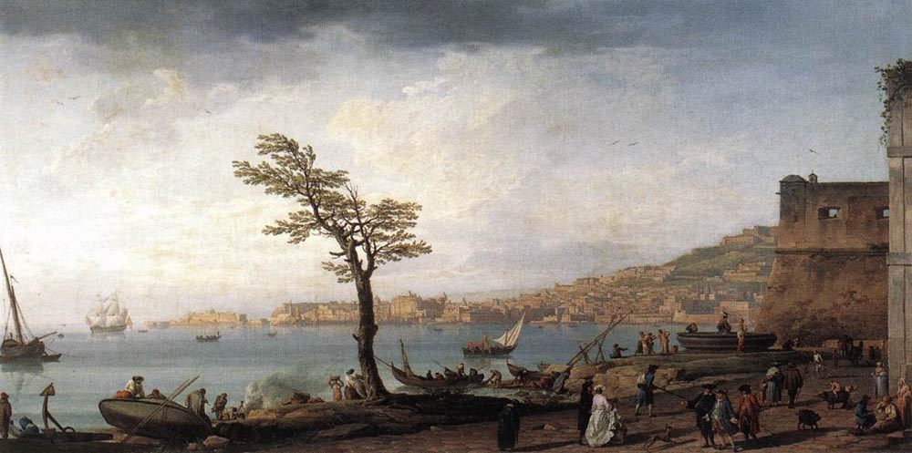 View of Naples :: Claude-Joseph Vernet  - Italy ôîòî