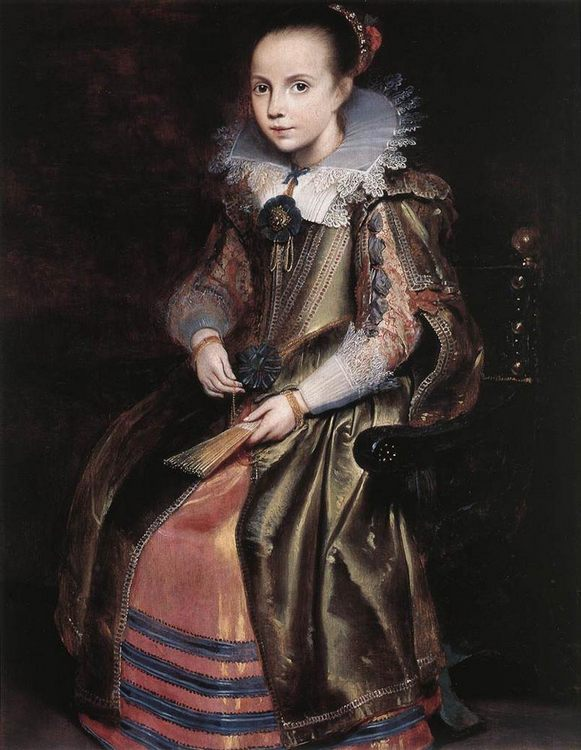 Elisabeth (or Cornelia) Vekemans as a Young Girl :: Cornelis De Vos - Portraits of young girls in art and painting ôîòî