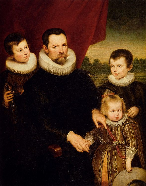 Portrait Of A Nobleman And Three Children :: Cornelis De Vos  - Family Portrait фото
