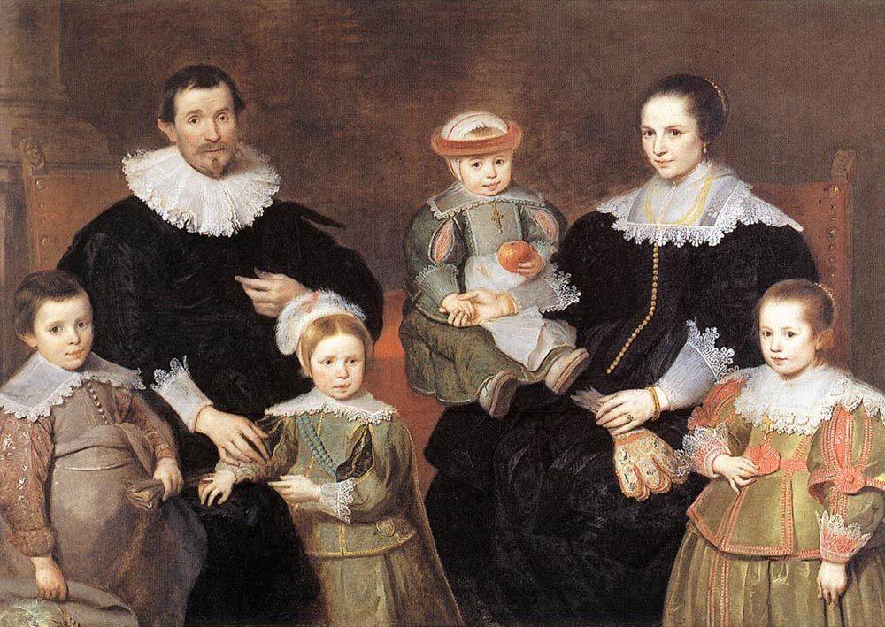 The Family of the Artist :: Cornelis De Vos - Family Portrait ôîòî