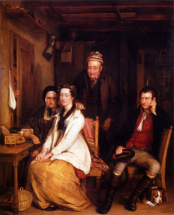 The Refusal From Burn's :: David Wilkie - Family Portrait фото