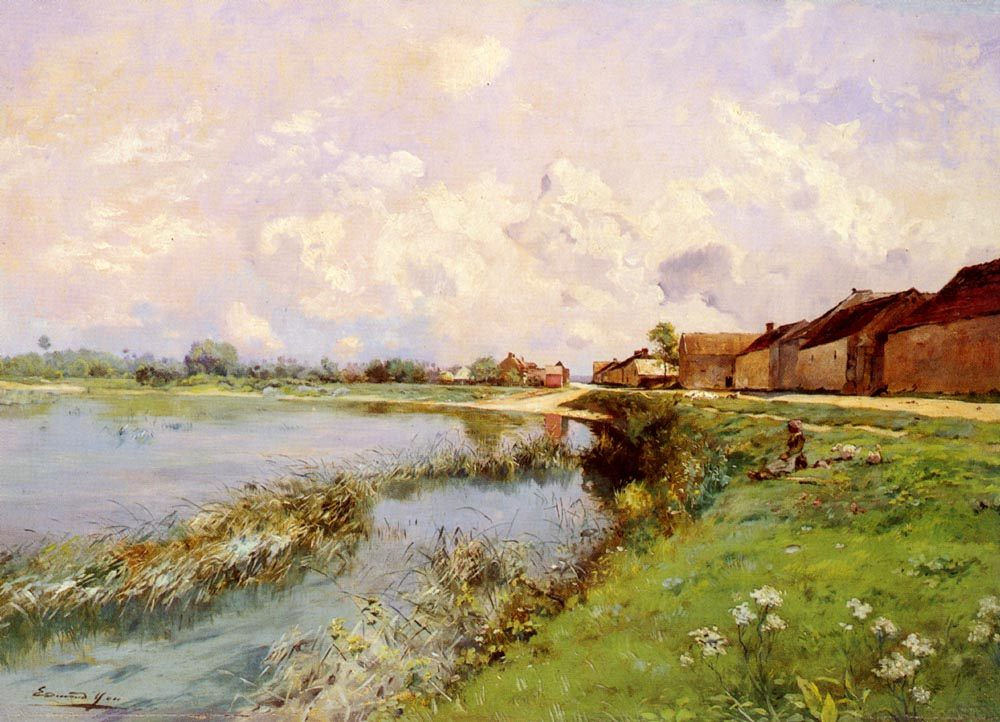 River Landscape :: Edmond Charles Joseph Yon - River landscapes ôîòî