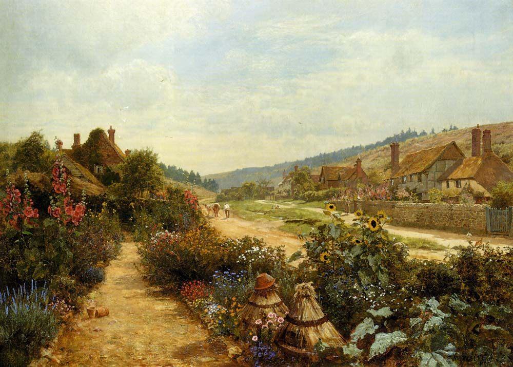 At Peaslake :: Edward Wilkins Waite - Village life ôîòî