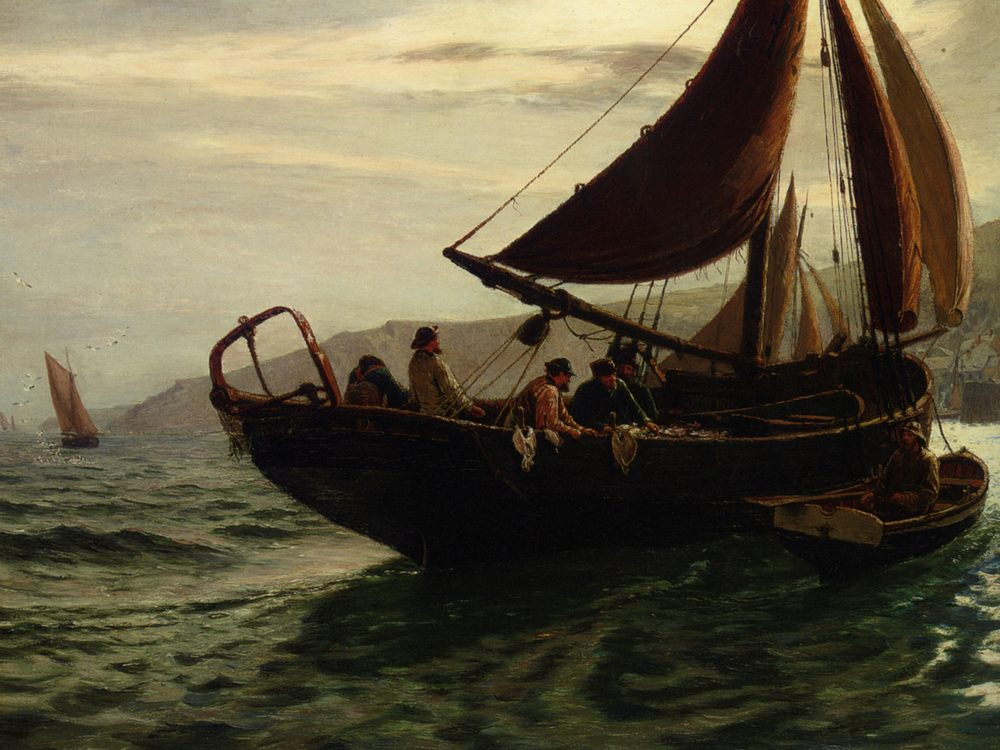 The Trawler :: Charles Napier Hemy  - Sea landscapes with boats ôîòî