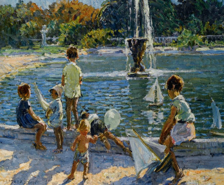 The Playground :: Dorothea Sharp - Children's portrait in art and painting фото