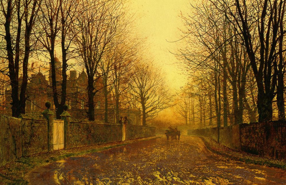 Autumn Evening :: John Atkinson Grimshaw  - Streets фото
