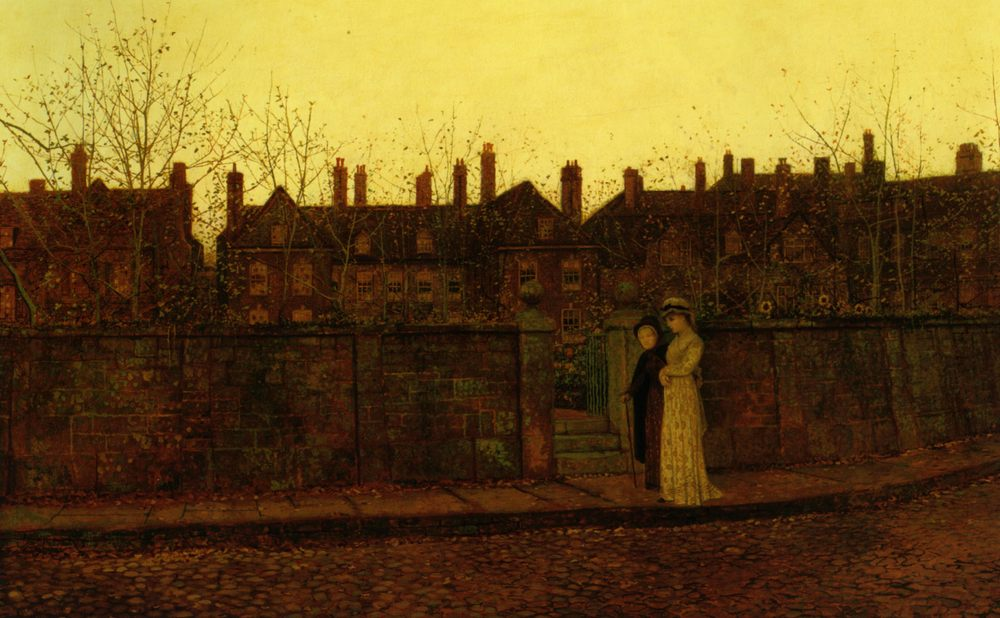 In the Golden Gloaming :: John Atkinson Grimshaw - Street and market genre scenes фото
