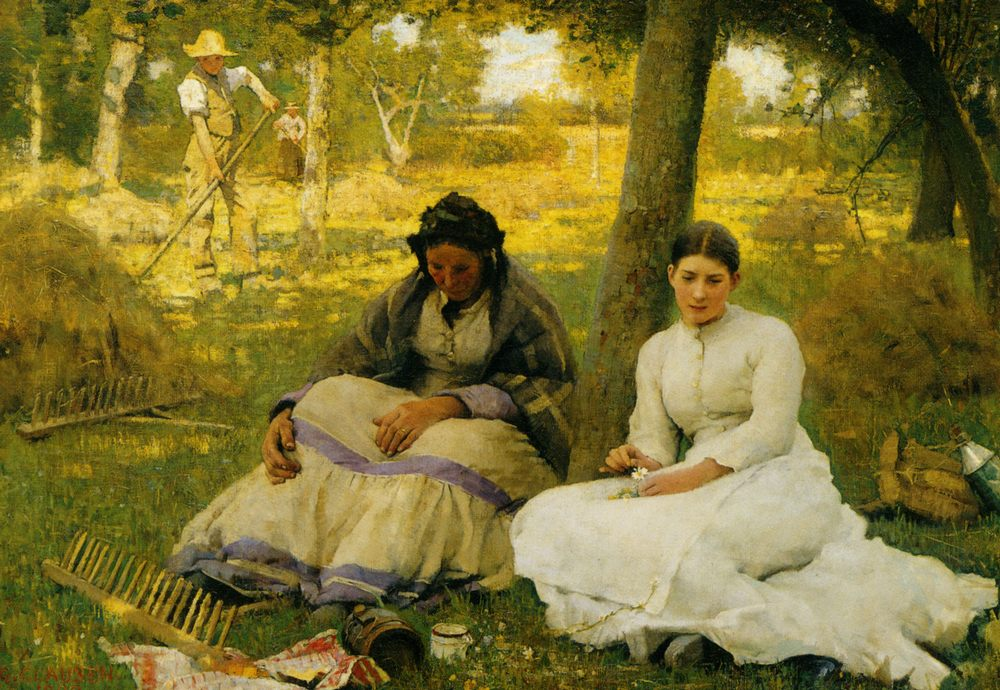 Day Dreams :: Sir George Clausen  - Picnic фото