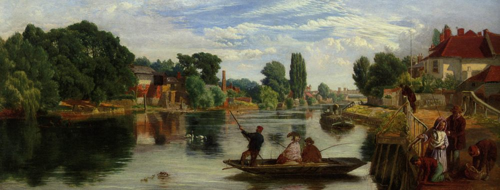 On The Thames :: William Henry Knight - River landscapes ôîòî