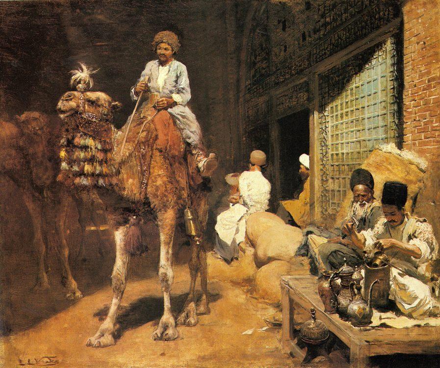 A Marketplace in Ispahan :: Edwin Lord Weeks - Street and market genre scenes фото