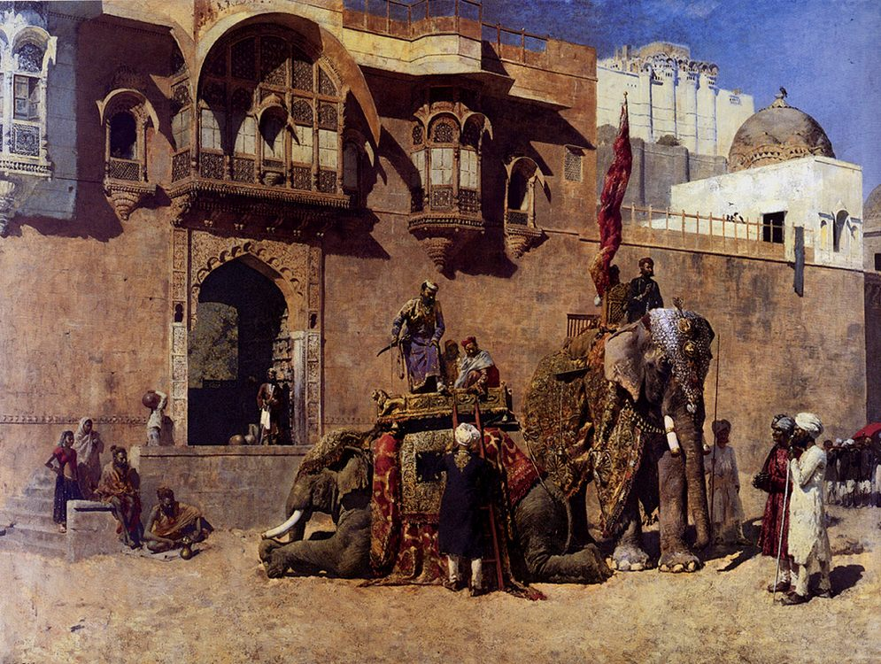 A Rajah Of Jodhpur :: Edwin Lord Weeks - Oriental architecture фото